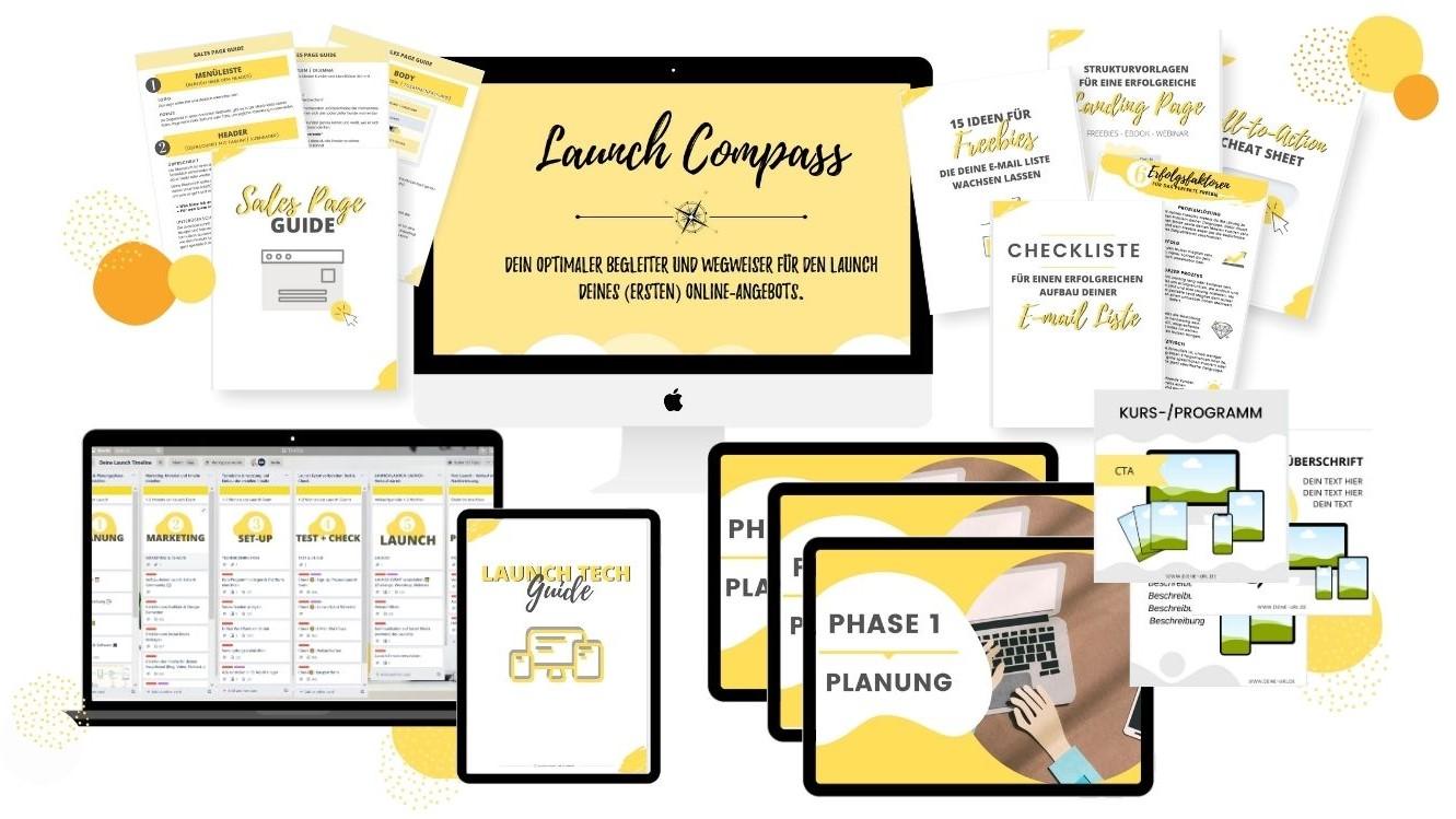 Tech Mockup Launch compass
